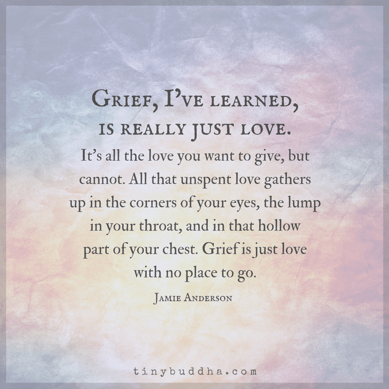 Grief is love with nowhere to go -Jamie Anderson