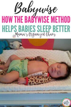 how the babywise method helps babies sleep better