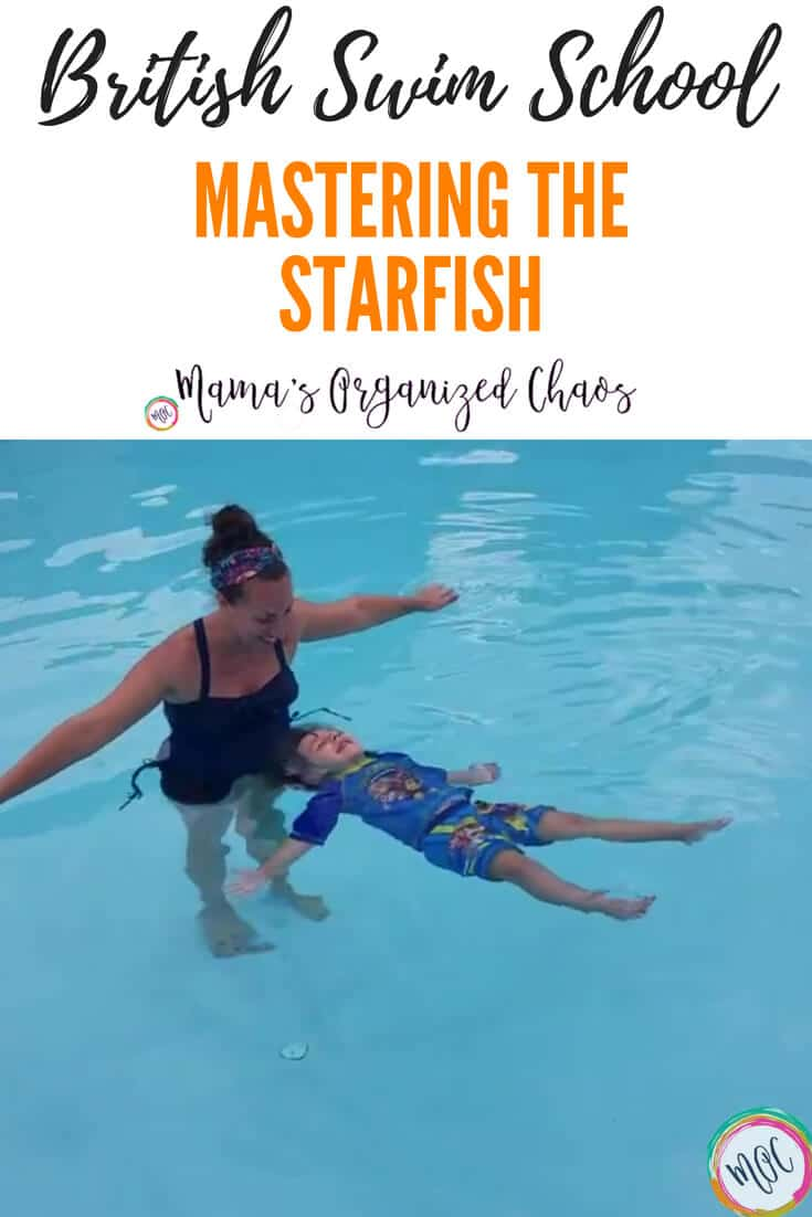 British Swim School- Caroline masters the starfish (back float)