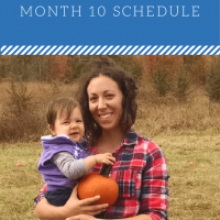 10 Month: Feeding Schedule