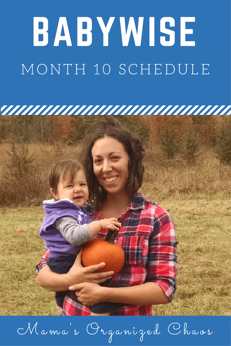 Babywise schedule month 10: for baby around 10 months of age. On this page you'll find schedules, information on naps, nighttime sleep, and more!