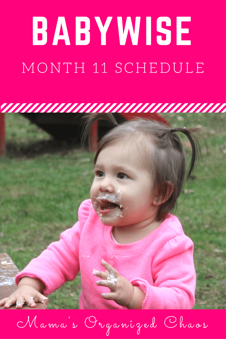 Babywise schedule month 11: for baby around 11 months of age. On this page you'll find schedules, information on naps, nighttime sleep, and more!
