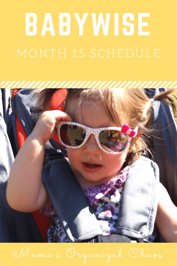 Babywise schedule month 15: for baby around 15 months of age. On this page you'll find schedules, information on naps, nighttime sleep, and more!