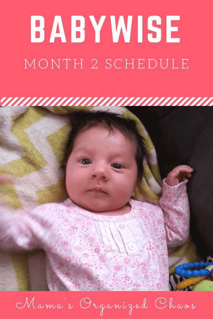 Babywise schedule for baby around 2 months of age. On this page you'll find schedules, information on naps, nighttime sleep, and more!