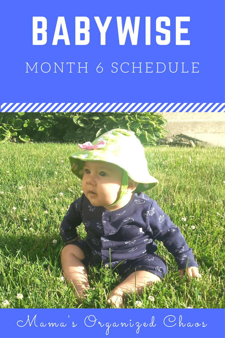 Babywise schedule month 6: for baby around 6 months of age. On this page you'll find schedules, information on naps, nighttime sleep, and more!