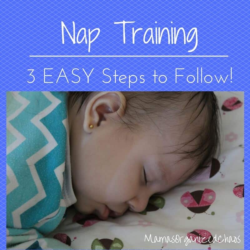 How to get your baby sleeping for naps. Nap training 3 step method.