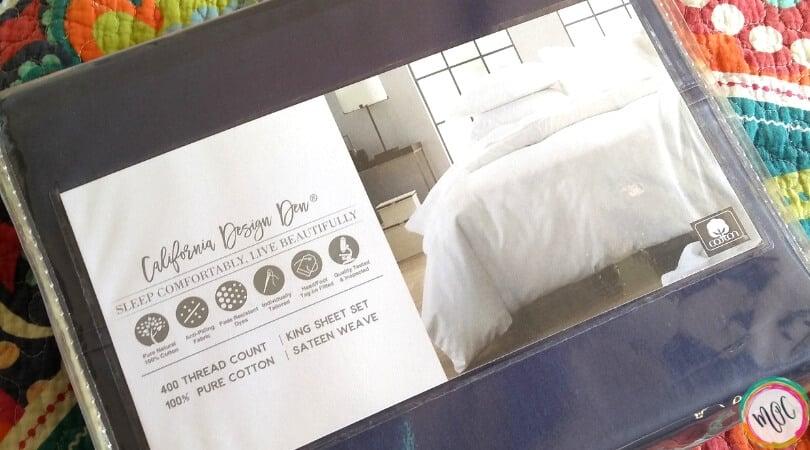 Indigo sheet set California design den