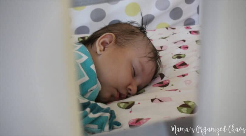Baby sleeping in crib. All about naps and troubleshooting naps with babywise.
