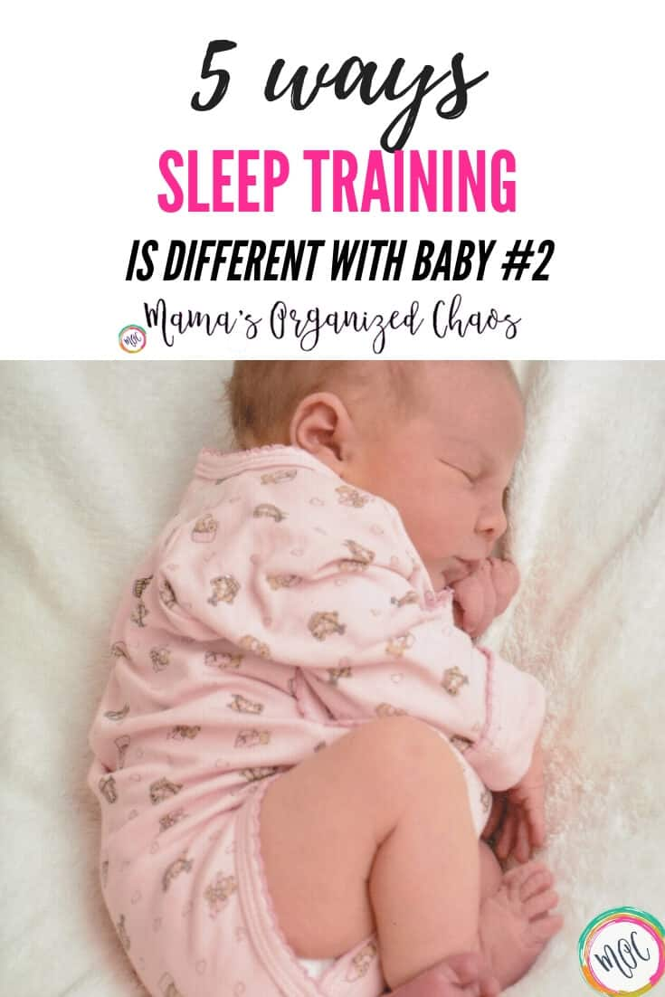 5 ways sleep training is different with baby # 2