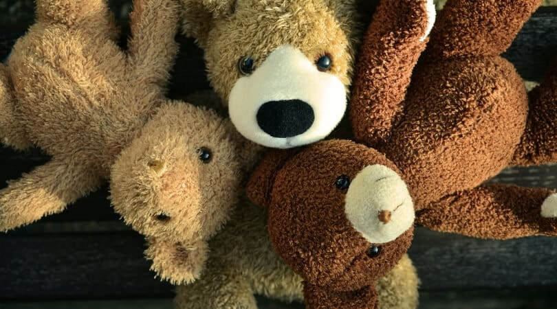 3 stuffed animals for rest time