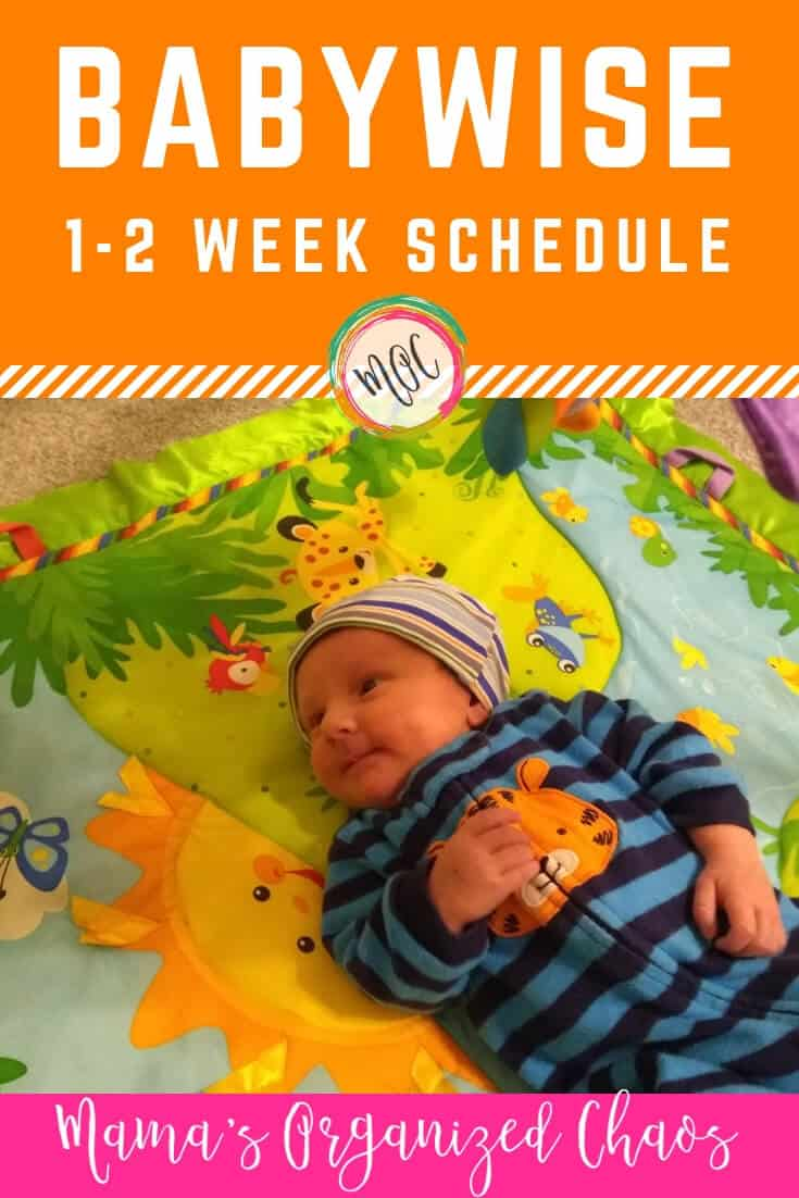 newborn week 1 and 2 babywise schedule