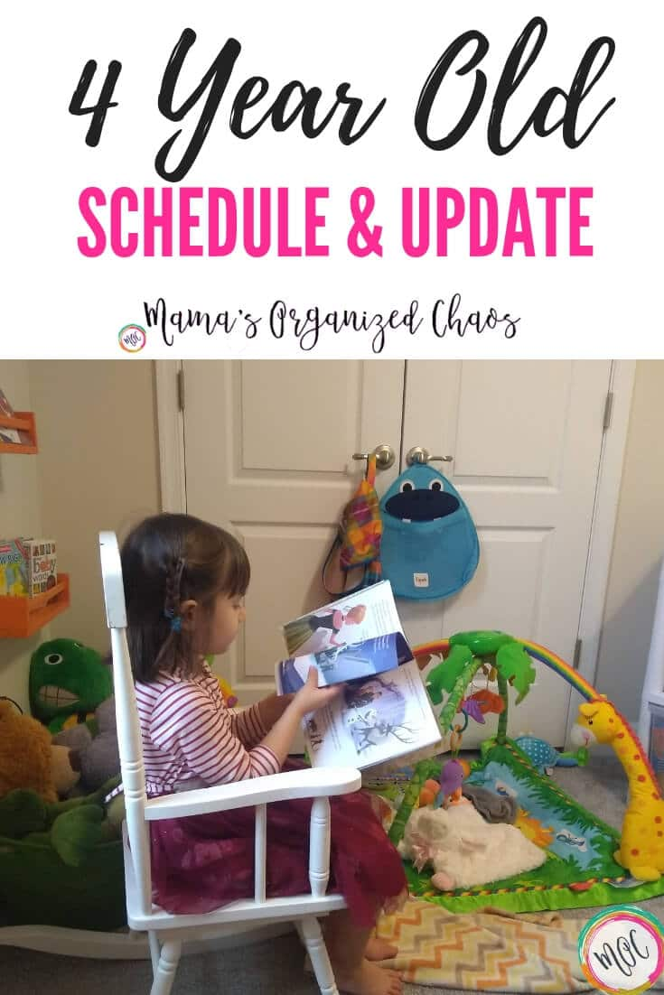 4 year old schedule and update