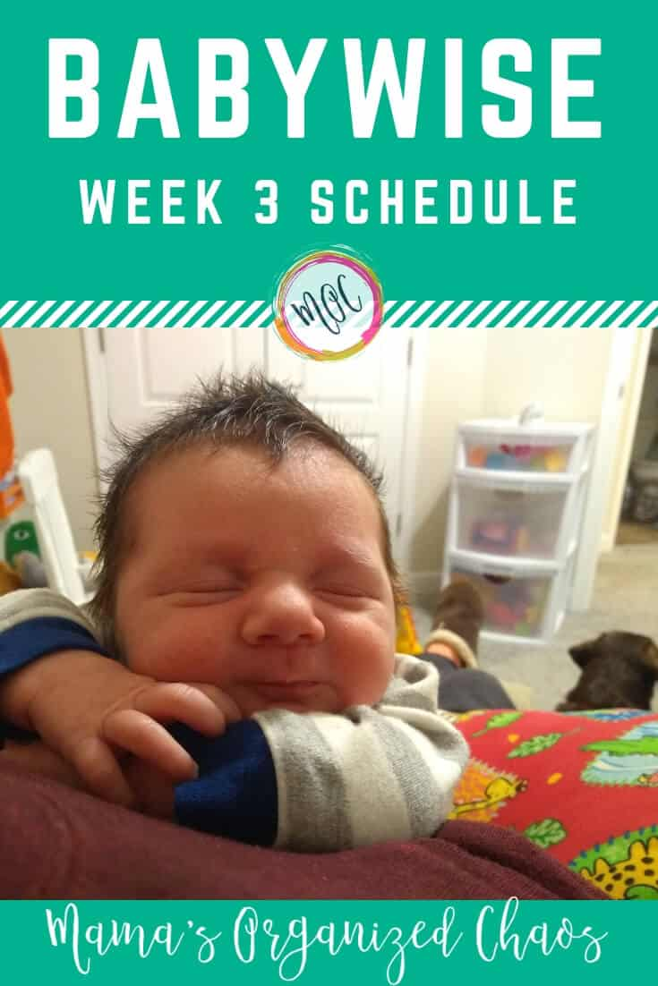 Babywise newborn week 3 schedule