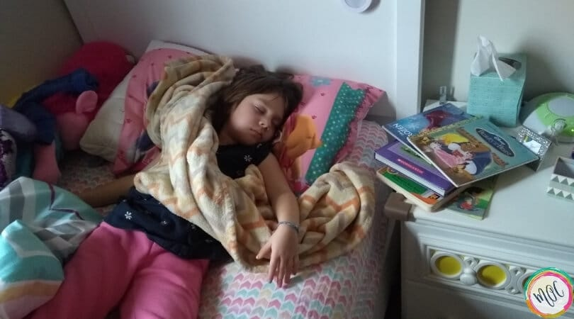 4 year old sleeping in bed