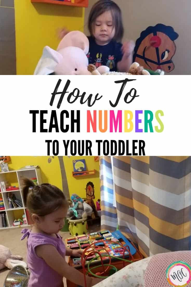 how to teach numbers to your toddler