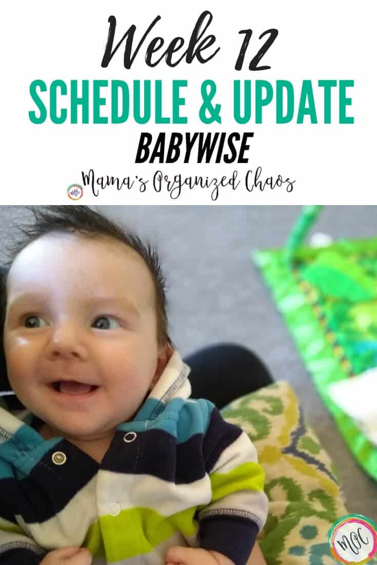 week 12 babywise schedule and update
