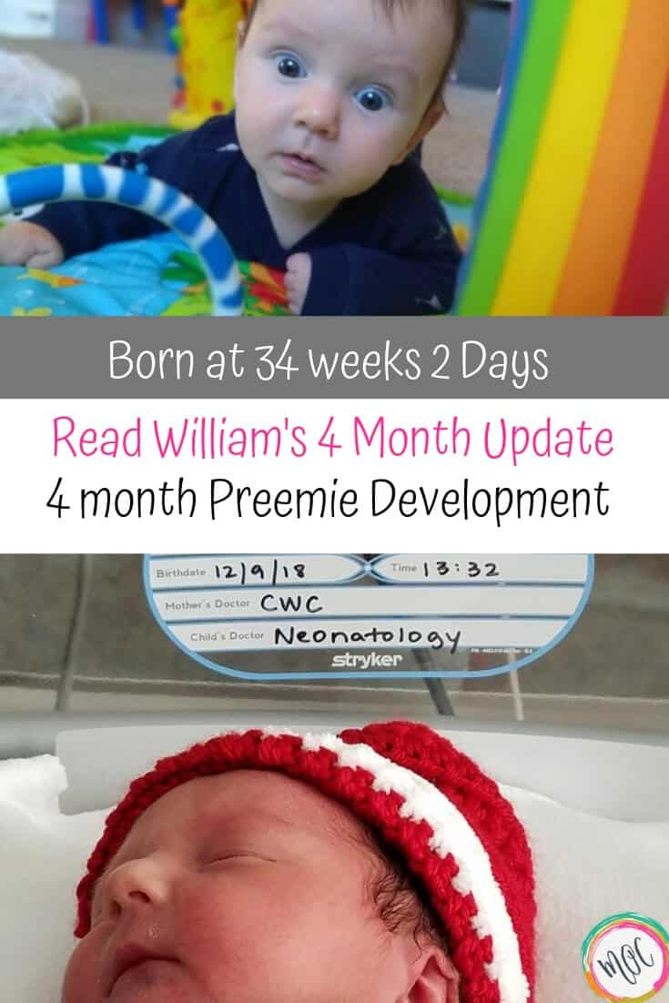 4 month old preemie development born at 34 weeks 2 days
