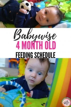 4 month old schedule