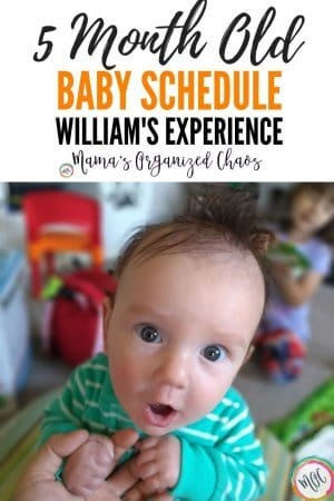5 Month old Baby schedule William's Experience