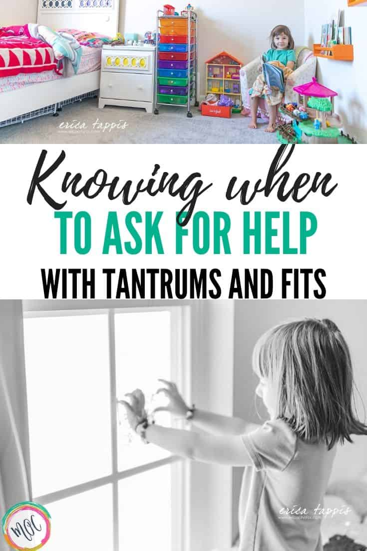 knowing when to ask for help with tantrums and fits