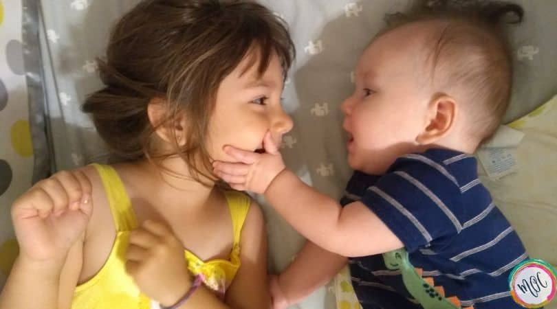 4 year old in crib with 6 month old brother