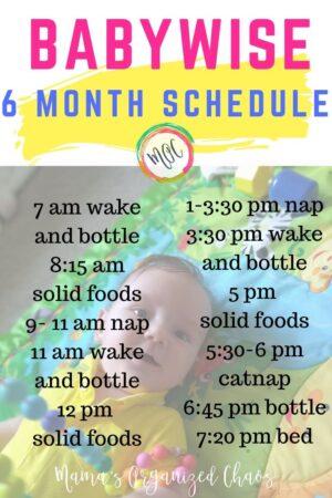 6 month babywise schedule