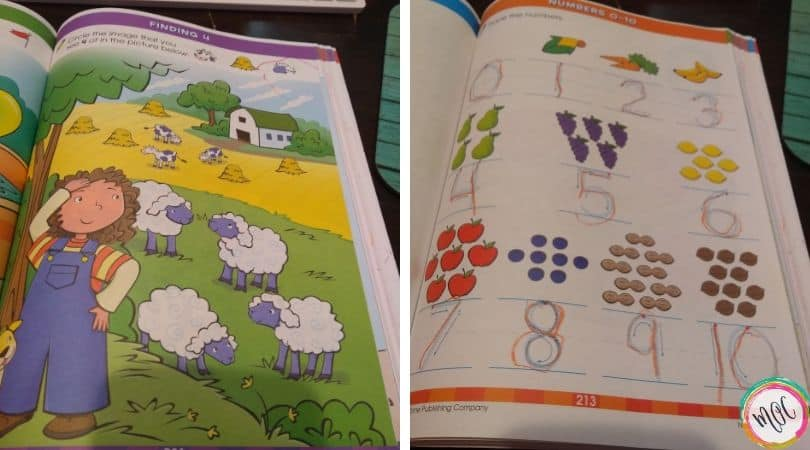 Numbers and counting with the big preschool workbook