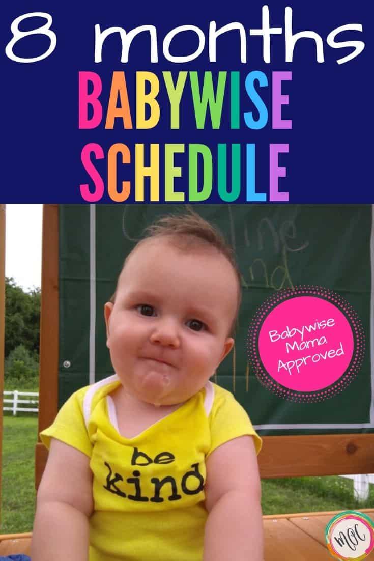 8 month old babywise schedule