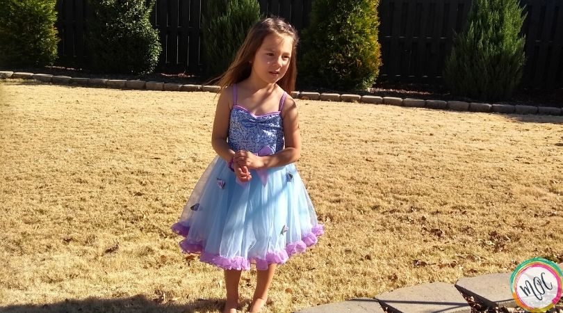 5 year old in beautiful dress