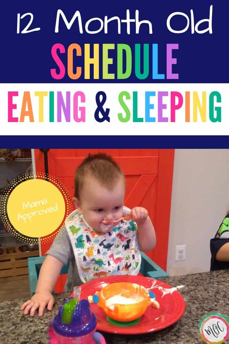 12 month old eating and sleeping schedule